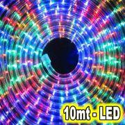Mangueira Luminosa de Natal de LED Rolo Colorido 10mt Corda Luminosa
