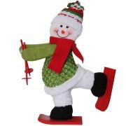 Boneco de Neve de Pelúcia com Esqui com 30cm de Altura CBRN0319 CD0047