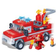 Brinquedo Carro de Bombeiro com 158 Peças em Blocos de Montar CBRN0852