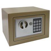 Cofre Eletrônico Digital Aço c/ 2 Chaves Bege CBR1061