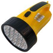 Lanterna LED Luminária Emergência WMTLED-1706 Amarelo 19 LEDS 1300mAh