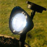 Luminária Solar Jardim PVC Rígido Spot 1383 3 Leds