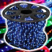 Mangueira Luminosa LÂMPADA Azul Corda Natal Pisca Rolo 100mt - 220v - 1086
