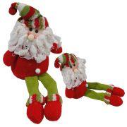Papai Noel em Tecido Luxo 1417 25cm de Altura CBRN0159