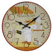 Relógio de Parede Retro Rústico Vintage Retro COZINHEIRO CBRN01910