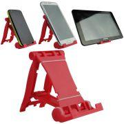 Suporte Universal para Smartphone, Tablet, E-book, Vermelho CBRN02146
