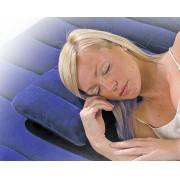 Travesseiro Impermeável Flocado Inflável Intex 68672