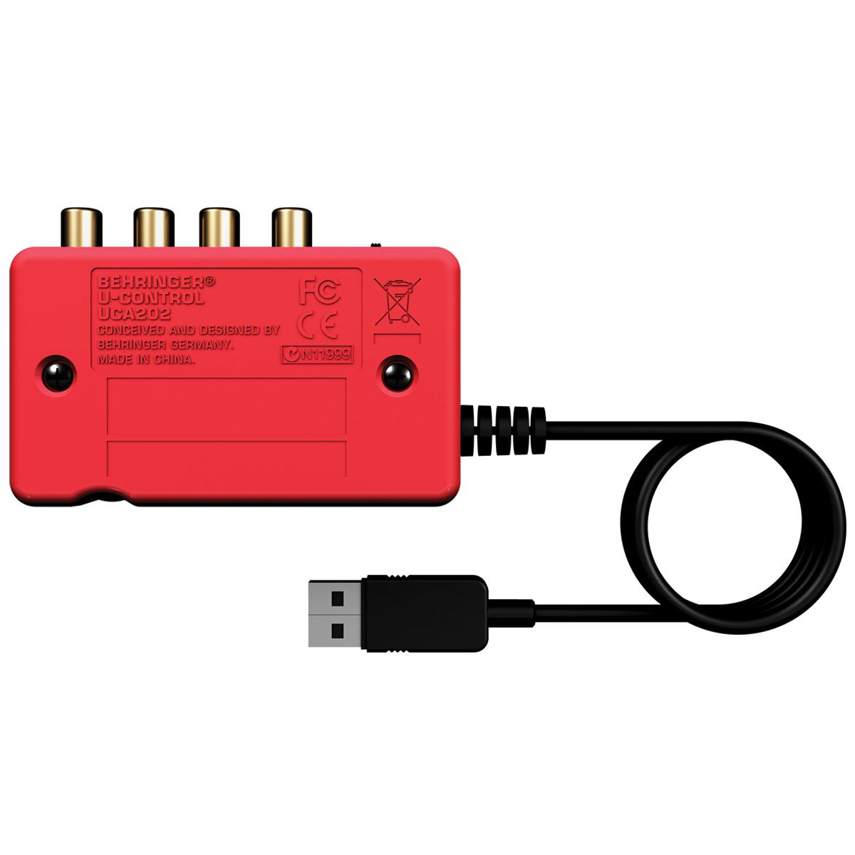 Placa de Som / Interface de Áudio USB U-Control UCA222 - Behringer