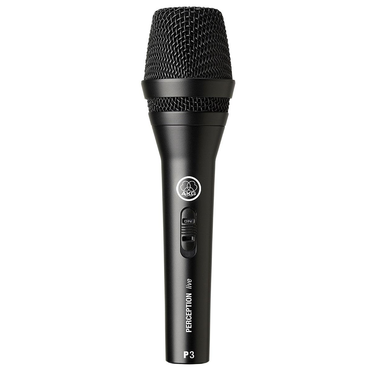 Microfone c/ Fio de Mão Dinâmico Perception 3 S - AKG