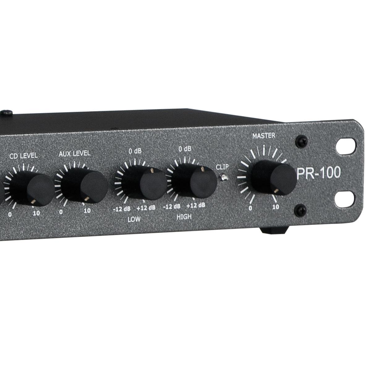 Pré Amplificador c/ Equalizador / Gongo - PR 100 NCA