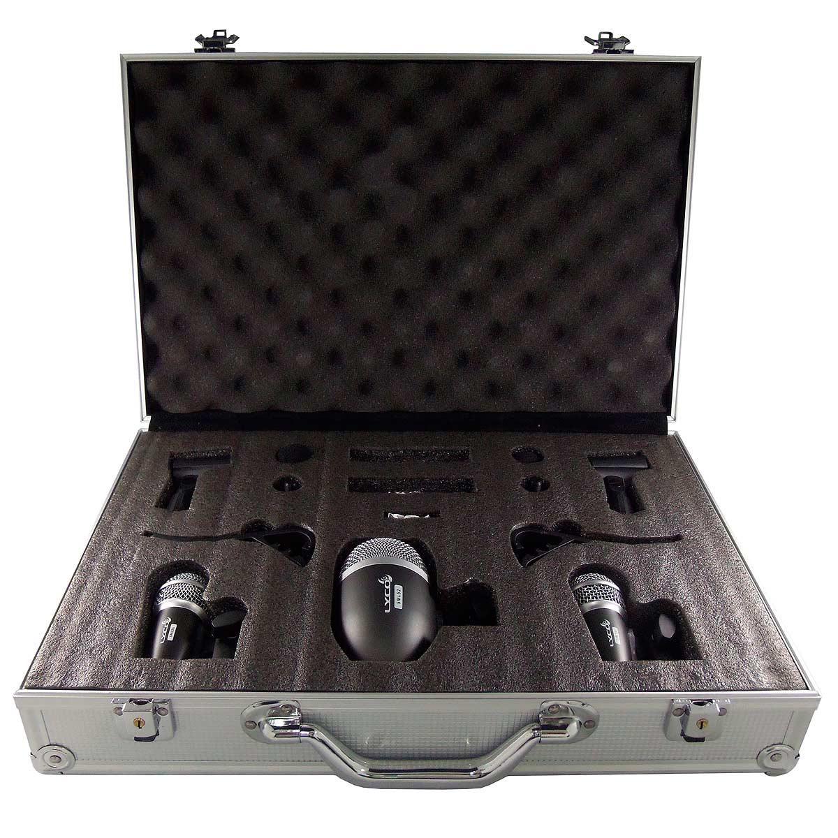 Microfone c/ Fio Dinâmico p/ Bateria (5 Unidades) LDK 5 PRO - Lyco