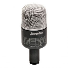 Microfone c/ Fio Dinâmico p/ Bumbo de Bateria PRO 218 A - Superlux