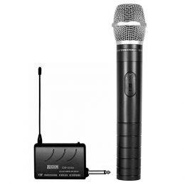 Microfone s/ Fio de Mão VHF p/ Filmadora 2010 A - CSR