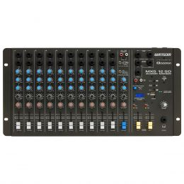 Mesa de Som 12 Canais (10 P10 Desbalanceadas + RCA) c/ USB Play / 1 Auxiliar MXS 12 SD - Ciclotron