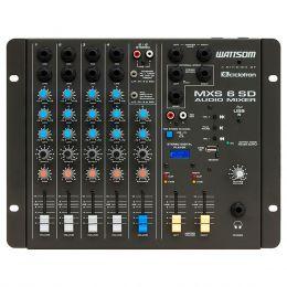 Mesa de Som 6 Canais (4 P10 Desbalanceados + RCA) c/ USB Play / 1 Auxiliar MXS 6 SD - Ciclotron