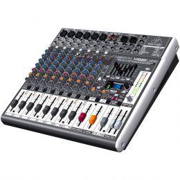 Mesa de Som 12 Canais Balanceados (6 XLR + 6 P10) c/ USB / Efeito / Phantom / 2 Auxiliares - Xenyx X 1222 USB Behringer