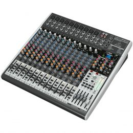 Mesa de Som 24 Canais Balanceados (10 XLR + 14 P10) c/ USB / Efeito / Phantom / 4 Auxiliares - Xenyx X 2442 USB Behringer