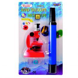 Kit Microscópio Monocular + Luneta WH 1120 - CSR