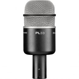 Microfone c/ Fio Dinâmico p/ Bumbo de Bateria - PL 33 Electro-Voice