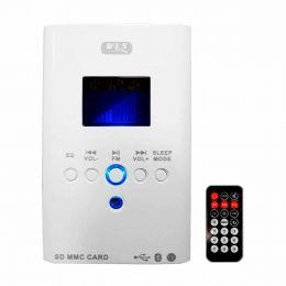 Amplificador Som Ambiente 30W 8 Ohms c/ USB / Bluetooth - Multimídia Wall Player WLS 220V