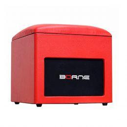 Caixa Ativa 60W c/ Bluetooth e USB Lounge Cube Vermelha - Borne