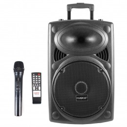 Caixa Portátil Falante 12 pol 200W c/ Bateria, Bluetooth, USB, Controle Remoto e Microfone sem Fio Xia 12 200 - HUAXIA