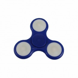 Fidget Hand Spinner Toy Azul Escuro c/ LED - Fingertoy