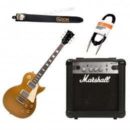 Guitarra Estudante Les Paul 6 cordas + Cubo MG 10CF 10W + Cabos e Correias KIT GUI LES PAUL - VR