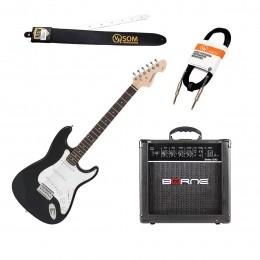 Guitarra Estudante Strato 6 cordas + Cubo G30 15W + Cabos e Correias KIT GUI STRATO - VR