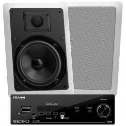Amplificador Som Ambiente 160W + Arandela Retangular Fal 6 Pol (2 Unidades) - Kit Residence AR Frahm