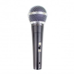 Microfone com fio de Mão com chave - PZ 58 PZ