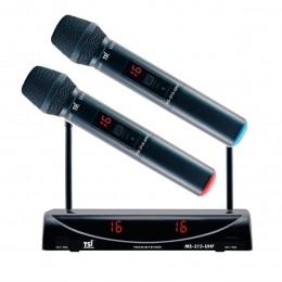 Microfone s/ Fio de Mão Duplo MS 315 UHF - TSI