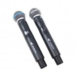Microfone s/ Fio de Mão Duplo UHF - UD 2200 UHF TSI