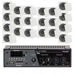 Som Ambiente 60 Watts com 20 caixas de teto com FM, entrada USB, Bluetooth, APP KIT AMB 20 USB FM BT APP FIAMON - VR