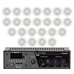 Som Ambiente 60 Watts com 24 caixas de teto com FM, entrada USB, Bluetooth, APP KIT AMB 24 USB FM BT APP NATTS - VR