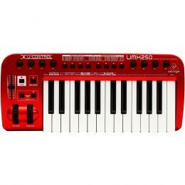 Teclado Controlador MIDI 25 Teclas c/ USB - U CONTROL UMX 250 Behringer