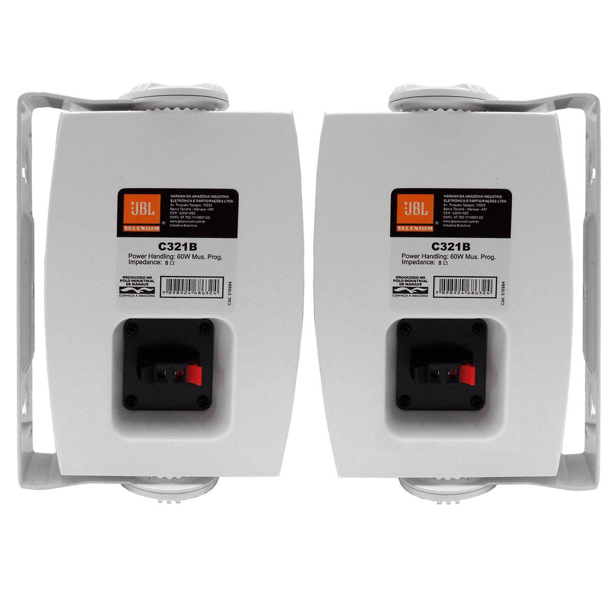 Caixa Passiva p/ Som Ambiente Fal 3 Pol 30W c/ Suporte (Par) C 321 B - JBL