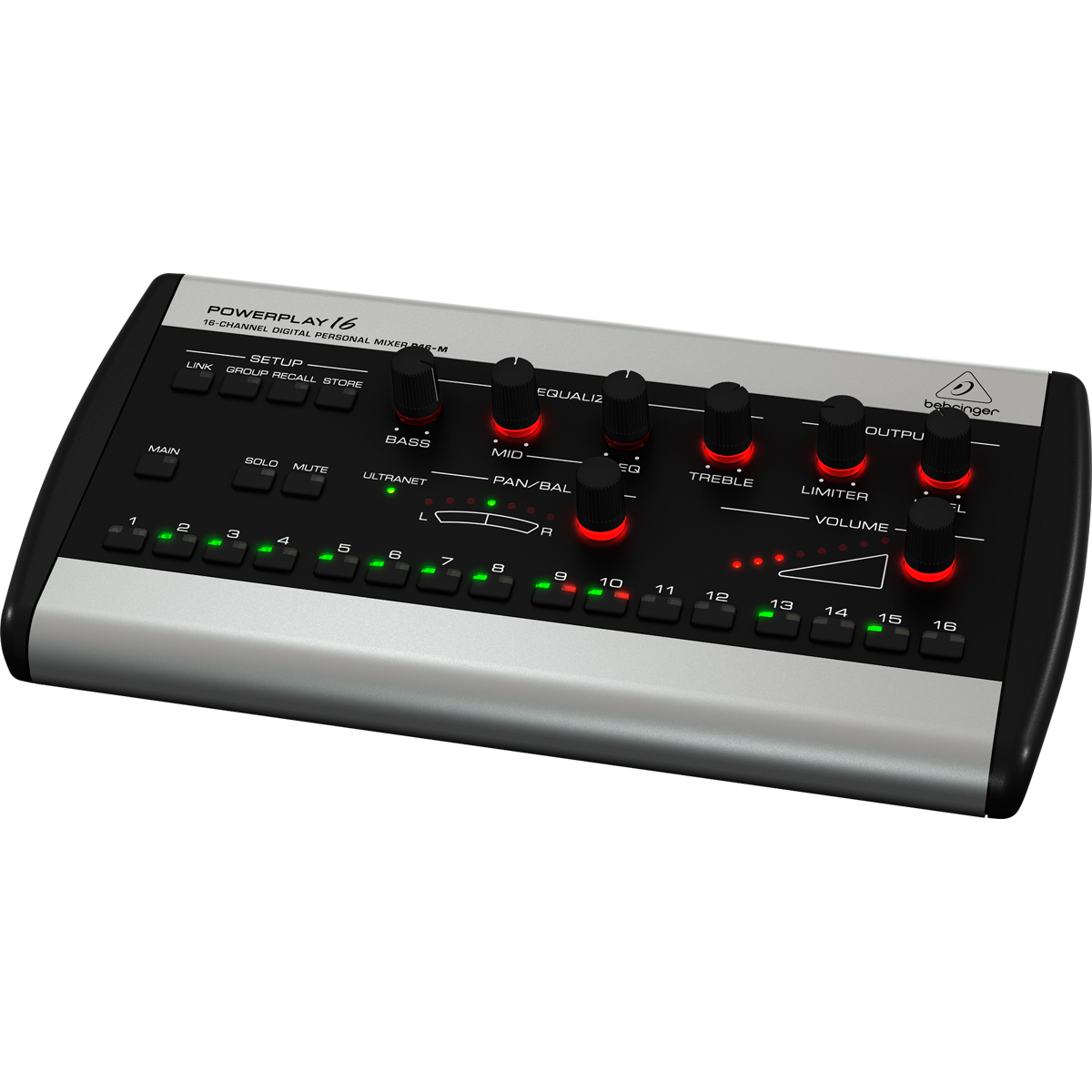 Monitor Digital 16 Canais p/ Fone In Ear Powerplay P16 M - Behringer