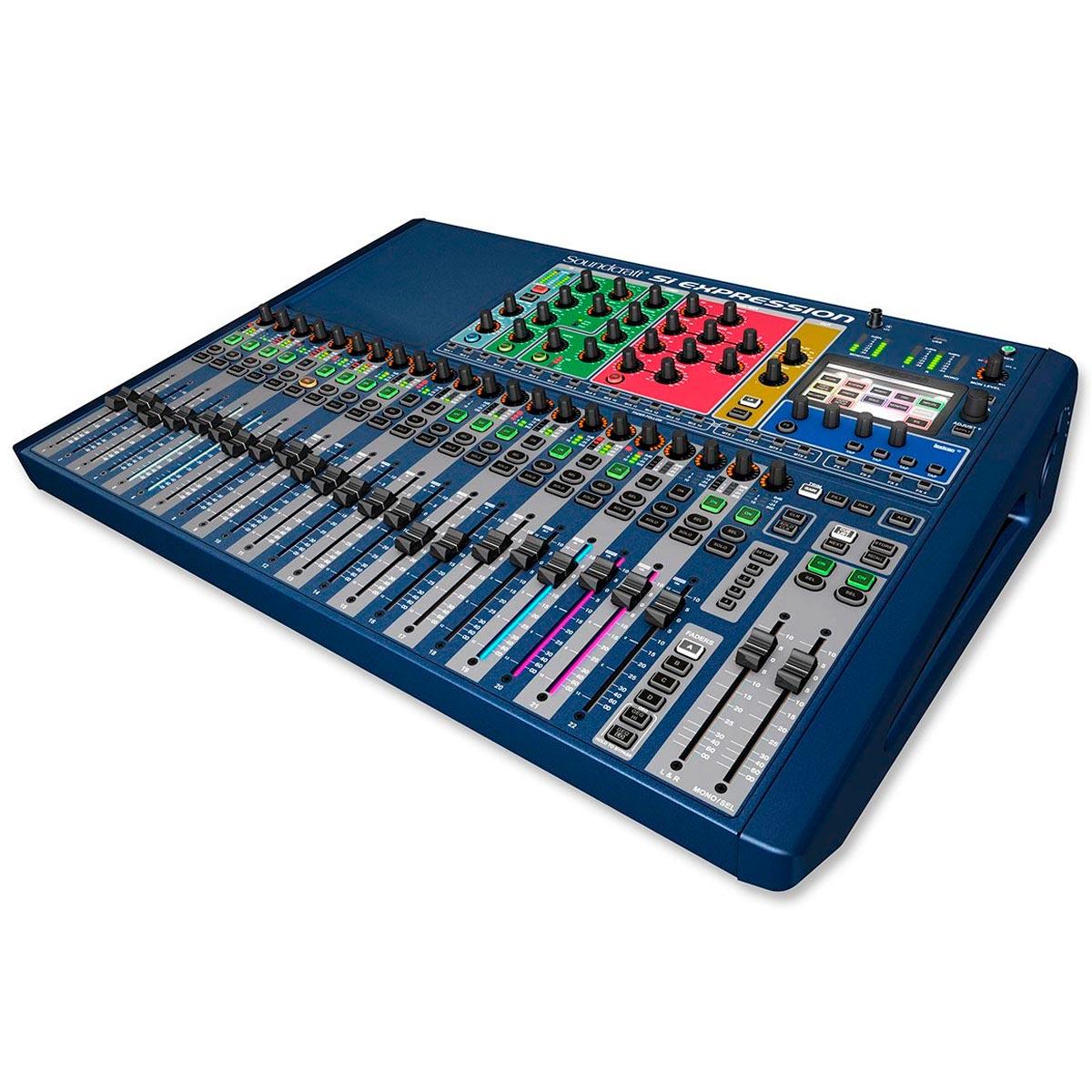 Mesa de Som / Mixer Digital 24 Canais 14 Auxiliares Si Expression 2 - Soundcraft