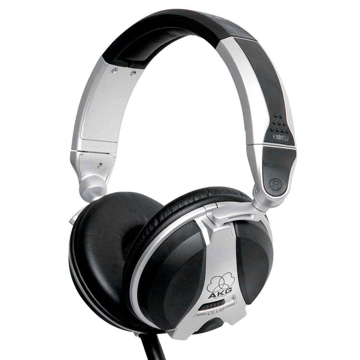 Fone de Ouvido Over-ear p/ DJ 5Hz - 30KHz 42 Ohms K 181 DJ - AKG
