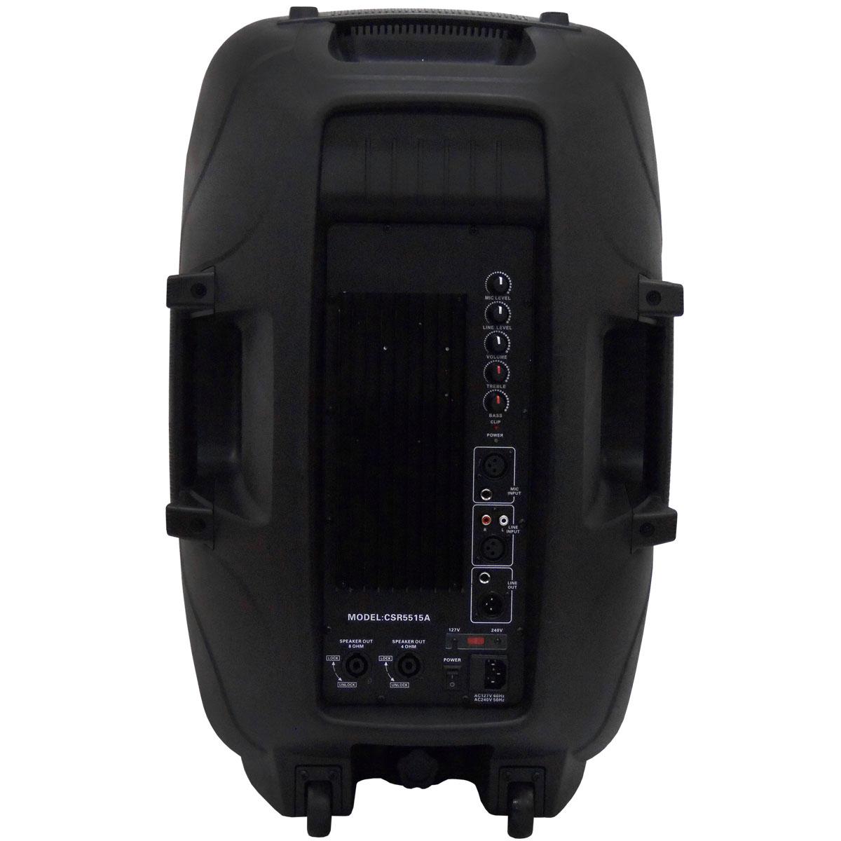 Caixa Ativa Fal 15 Pol 300W Bi-Amplificada CSR 5515 A - CSR