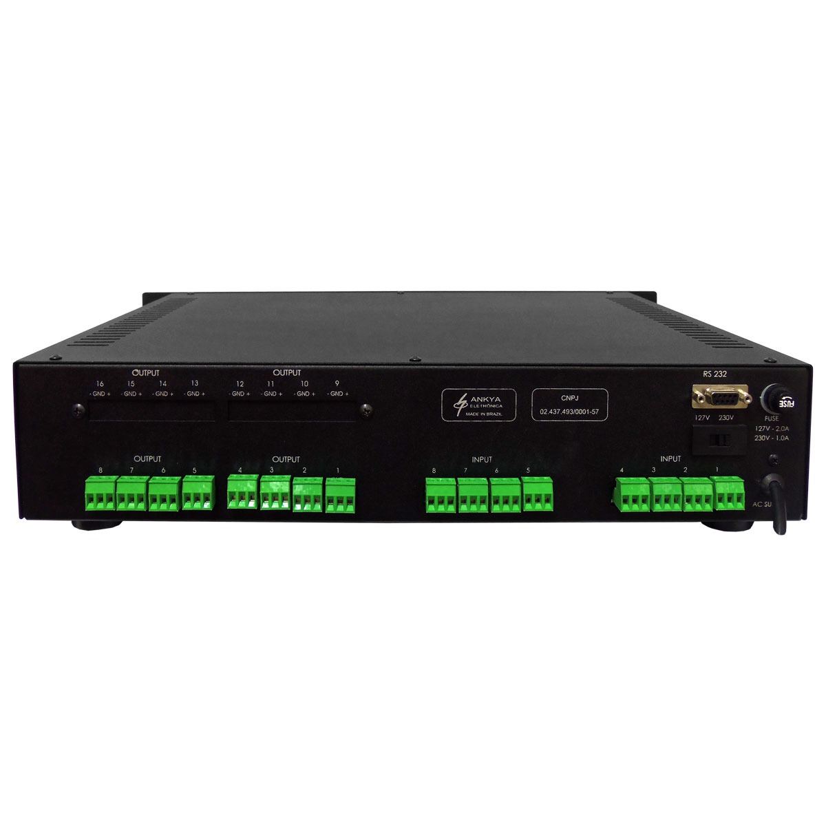 Flexio88 - Matriz Digital p/ Roteamento de Áudio 8 x 8 Flexio 8 8 - Sansara