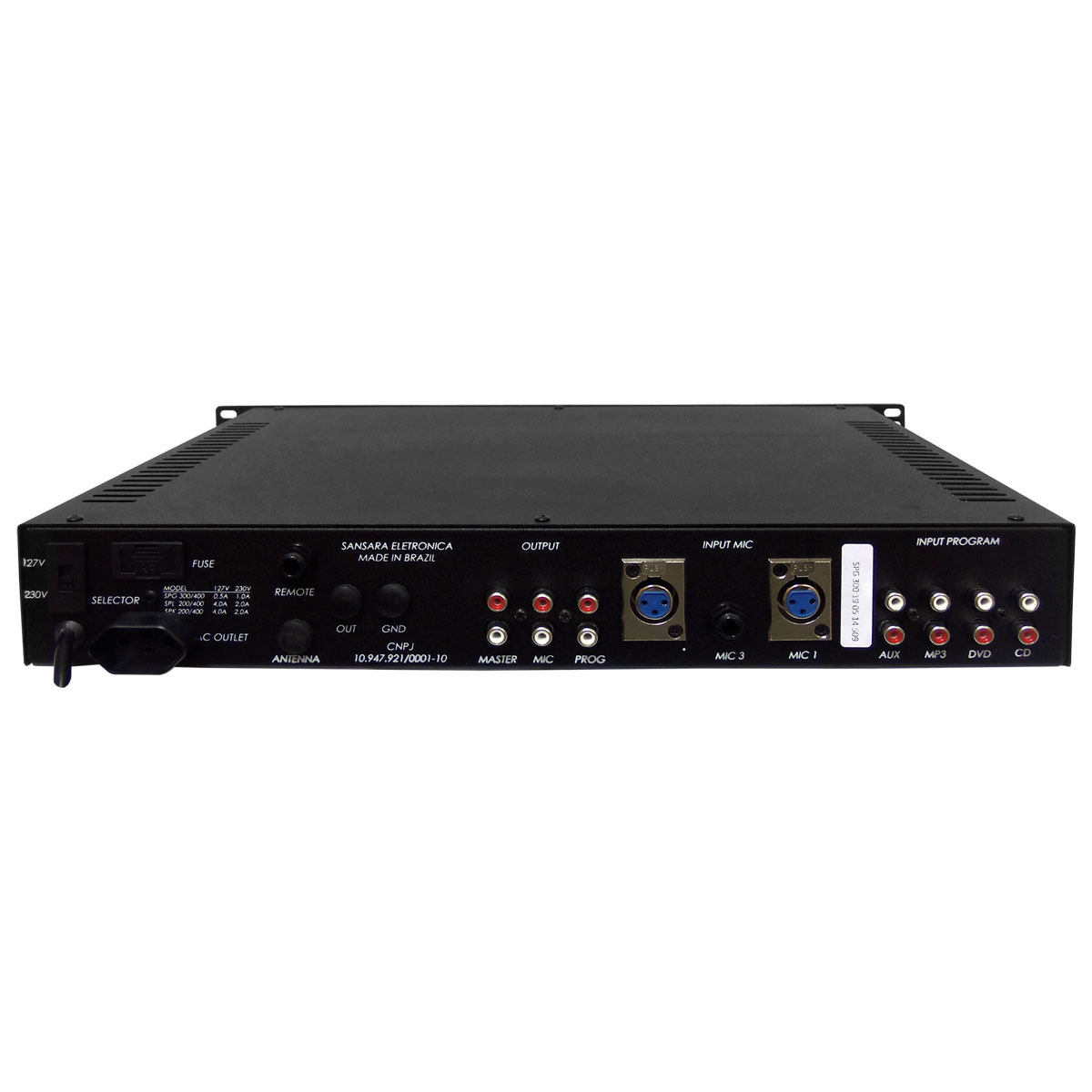 Pré Amplificador c/ Chamada / Gongo - SPG 300 Sansara