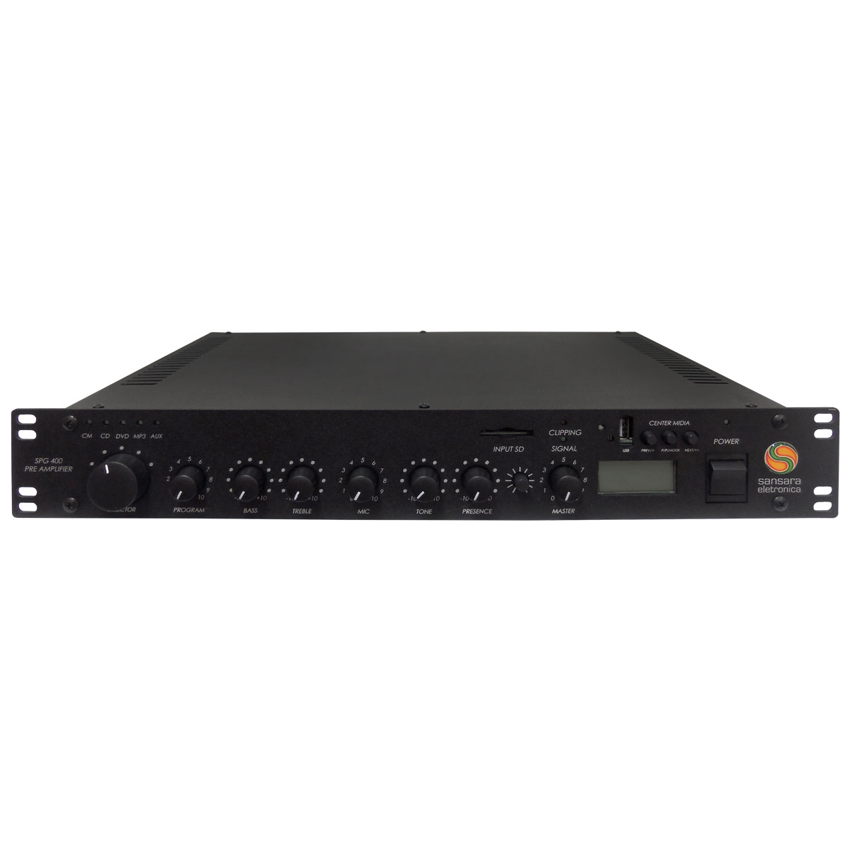 Pré Amplificador c/ USB / Chamada / Gongo - SPG 400 Sansara