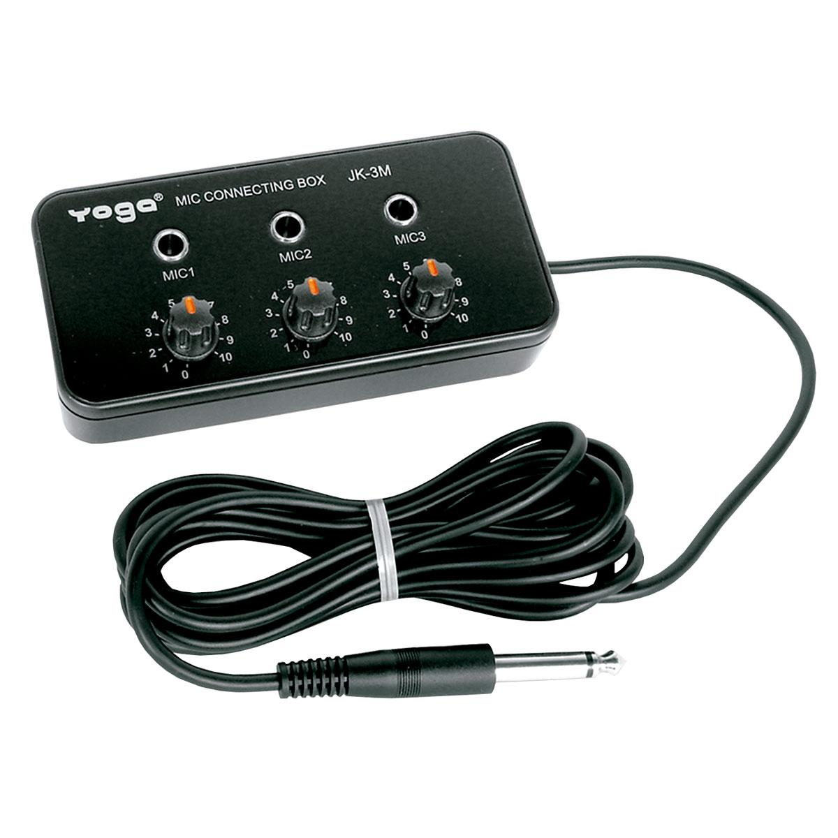 Adaptador p/ 3 Microfones c/ Volume - JK 3 M Yoga