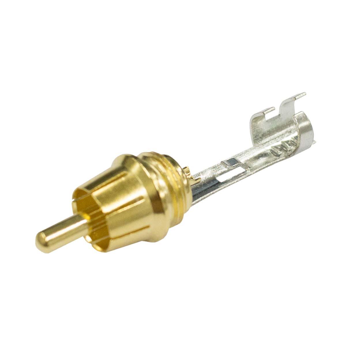 Conector RCA Macho Linha - ACPR BLK Amphenol