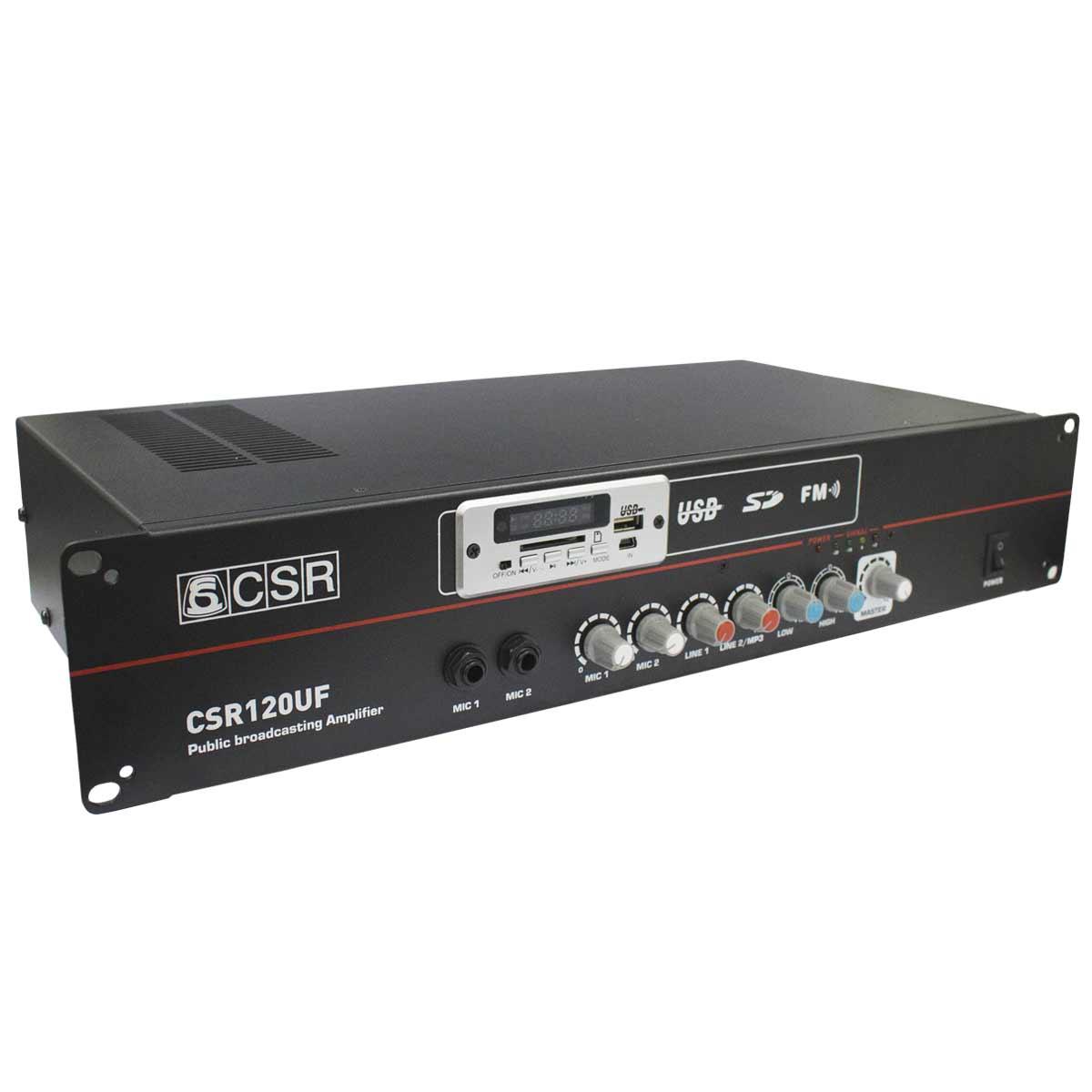 Amplificador de Potência 20W 8 Ohms c/ USB - 120 UF CSR