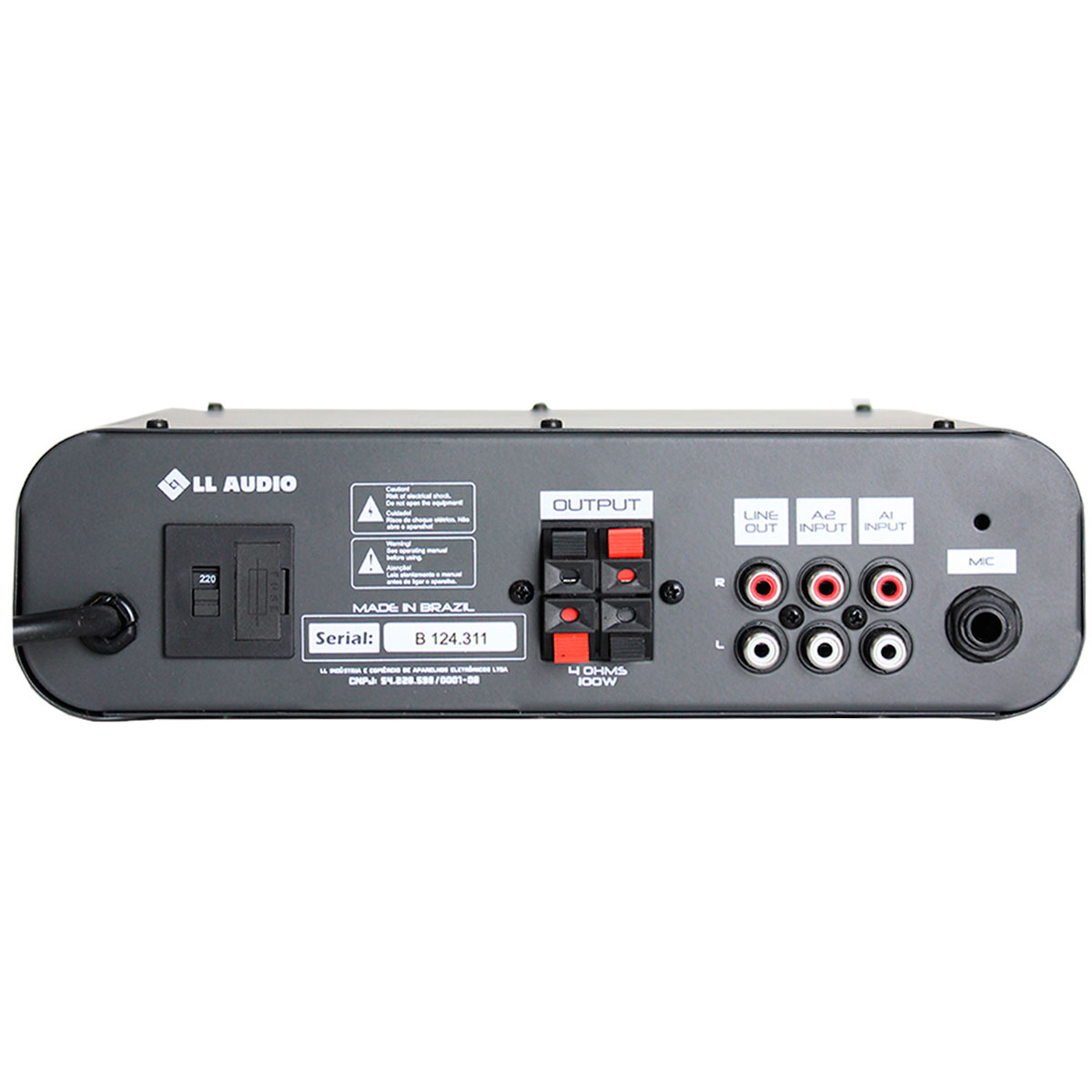 Amplificador Som Ambiente 50W 8 Ohms c/ USB - AB 100 USB NCA