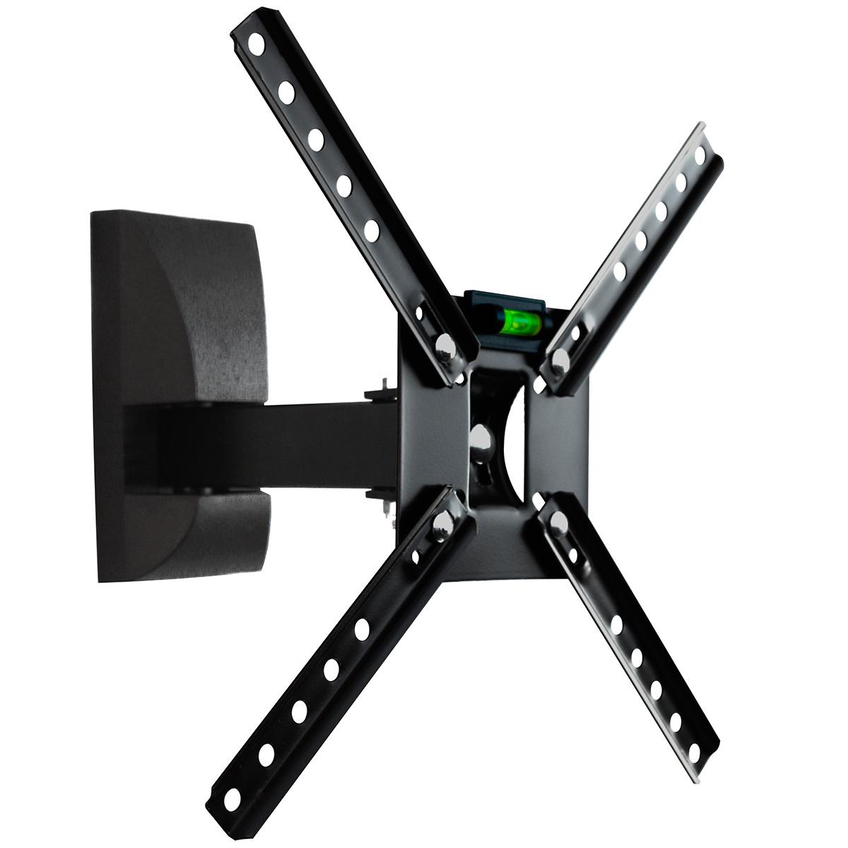 Suporte de Parede Bi-Articulado p/ TV 10 a 55 LCD / LED / Plasma / 3D - SBRP 130 Brasforma