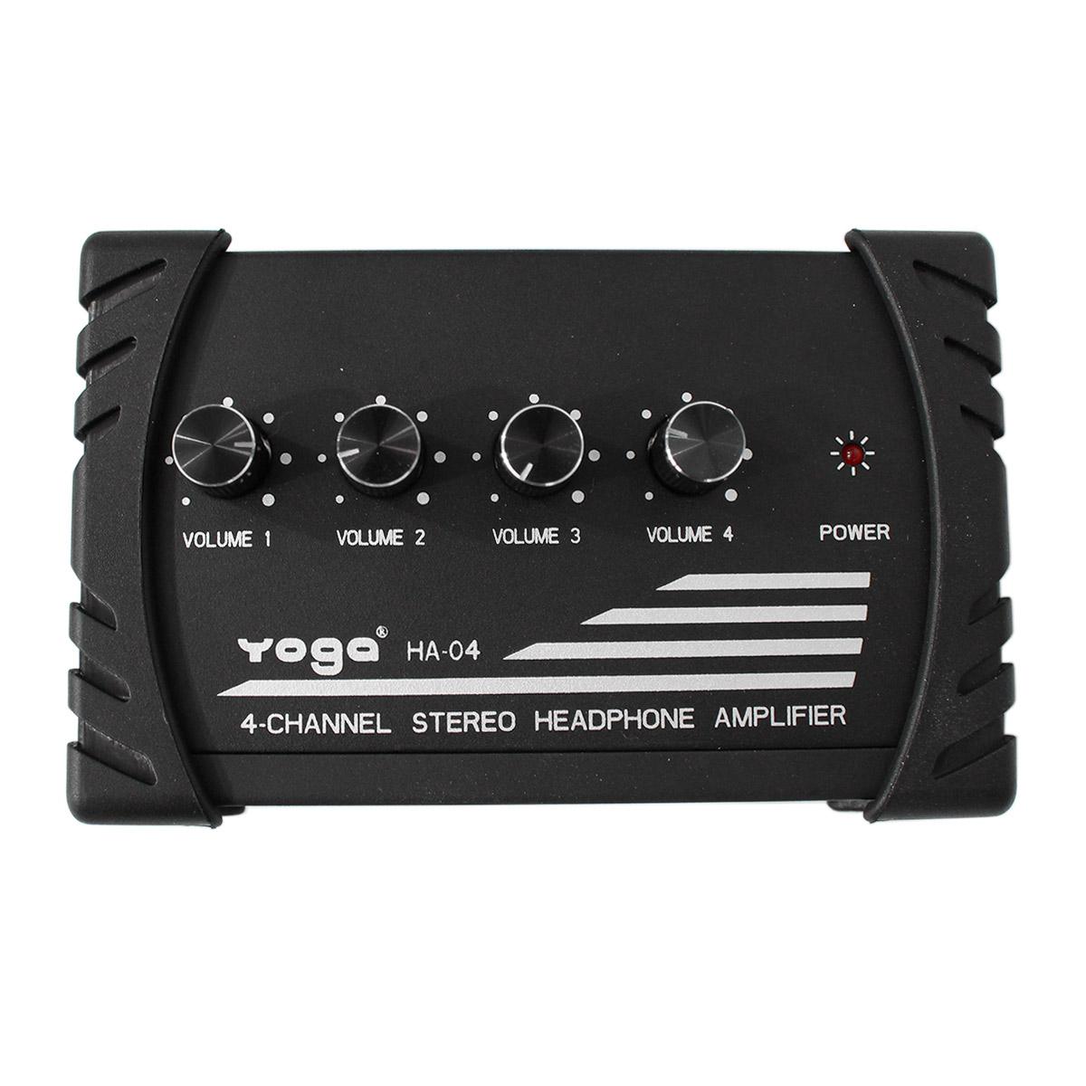 Amplificador p/ Fones de Ouvido 4 Canais - HA 04 YOGA